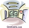 Vector Clipart picture  of a hospital