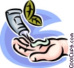 Vector Clip Art graphic  of a hand lotion