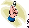 person with a bandage on their finger Vector Clip Art graphic