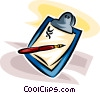 Vector Clipart graphic  of a doctor's clipboard