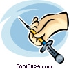 needle/syringe Vector Clip Art picture