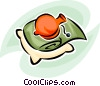 Vector Clip Art graphic  of a hot water bottle