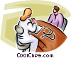 Vector Clipart image  of a doctor having a consultation