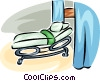 hospital bed Vector Clipart graphic