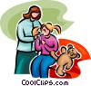 girl at the doctor's office Vector Clipart illustration