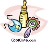 Vector Clipart graphic  of a baby bottle