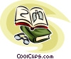 doctor's book and eyeglasses Vector Clipart image