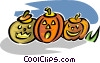 Halloween pumpkins Vector Clipart illustration