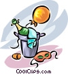 Vector Clipart illustration  of a champagne in a bucket of ice