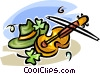 Vector Clipart illustration  of a St. Patrick's Day and a fiddle