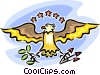 Vector Clip Art graphic  of an American eagle