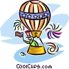hot air balloon/ independence day Vector Clipart illustration