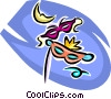 mardi gras masks Vector Clipart image