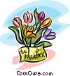 flowers for mother's day Vector Clip Art picture