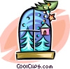 Vector Clip Art graphic  of a winter scene