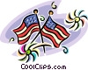 Vector Clipart picture  of an American flags