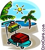 Vector Clipart graphic  of a vacation on a sunny beach