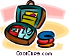 packing a suitcase Vector Clip Art graphic