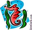 Vector Clipart graphic  of a sea horse