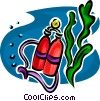 Vector Clip Art picture  of a Scuba oxygen tanks