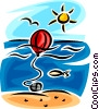 Vector Clip Art image  of a buoy/channel marker