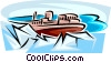 Vector Clip Art picture  of a icebreaker