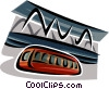 monorail Vector Clipart graphic