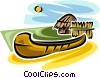 Vector Clip Art picture  of a canoe