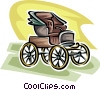 Vector Clip Art picture  of a vintage automobile