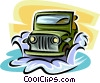 Vector Clipart image  of a jeep