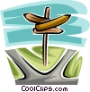 Vector Clipart picture  of a signpost