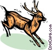 Vector Clipart graphic  of a deer
