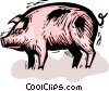 Vector Clipart graphic  of a pig
