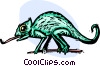 Vector Clipart graphic  of a chameleon