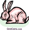 Vector Clipart image  of a rabbit