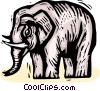 Vector Clip Art graphic  of a elephant