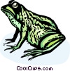 Vector Clipart graphic  of a frog