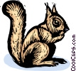 Vector Clip Art graphic  of a squirrel