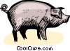 Vector Clipart picture  of a pig