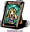 Vector Clipart picture  of a picture of a dog