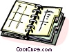Vector Clipart picture  of a day timer