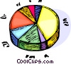 Vector Clipart picture  of a pie chart