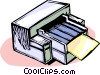 Vector Clip Art image  of a computer printer