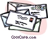letters/envelopes Vector Clipart graphic