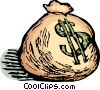 Vector Clipart illustration  of a bag of money