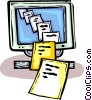 Vector Clip Art picture  of a computer documents