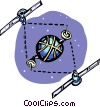 Vector Clipart illustration  of a satellite communications