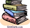 Vector Clipart picture  of a School books