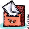 Vector Clipart image  of a letter being put into a