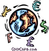Vector Clipart graphic  of a global finances